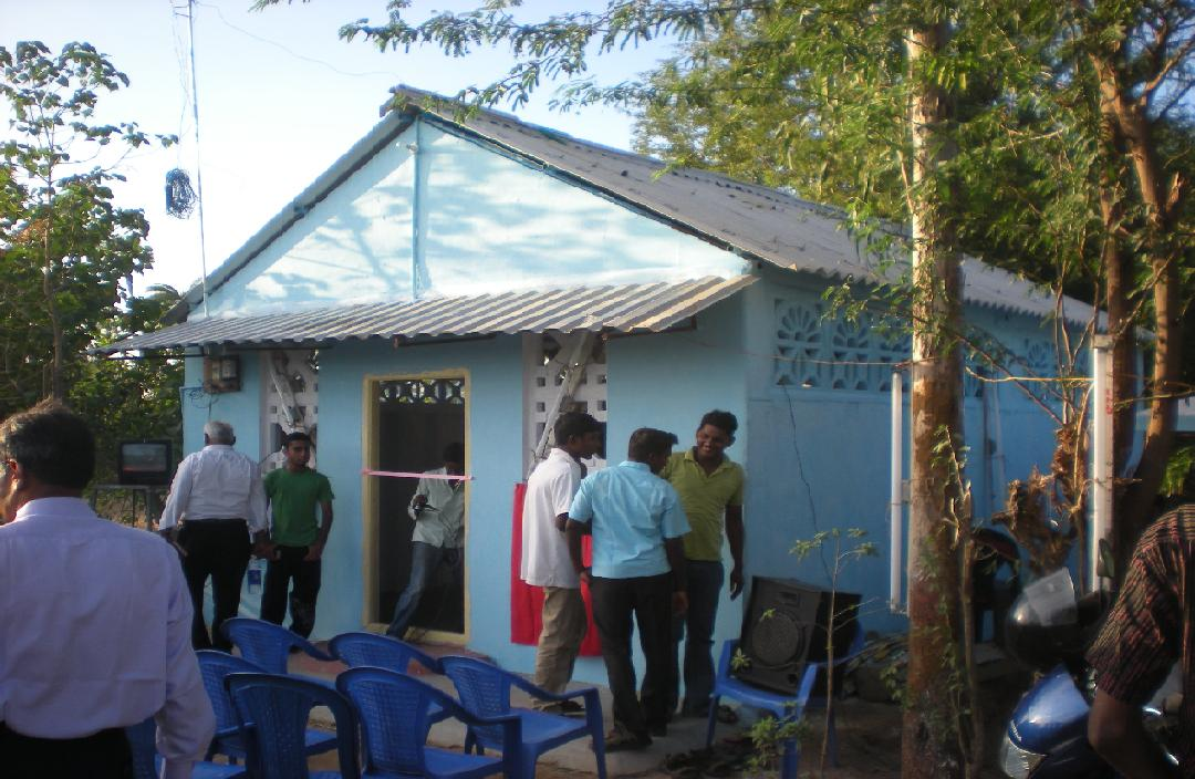 Opening Day at the little Church in Annicut, built on Babu's land.